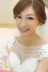 自然韓妝復古蕾絲_宜 訂結婚造型