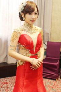 韓式光澤肌華麗甜美_詒 訂婚宴造型