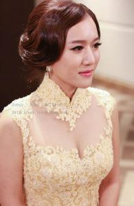 韓式時尚復古個性_容結婚造型